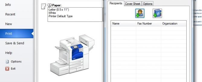 Paperless Faxing from Print Driver