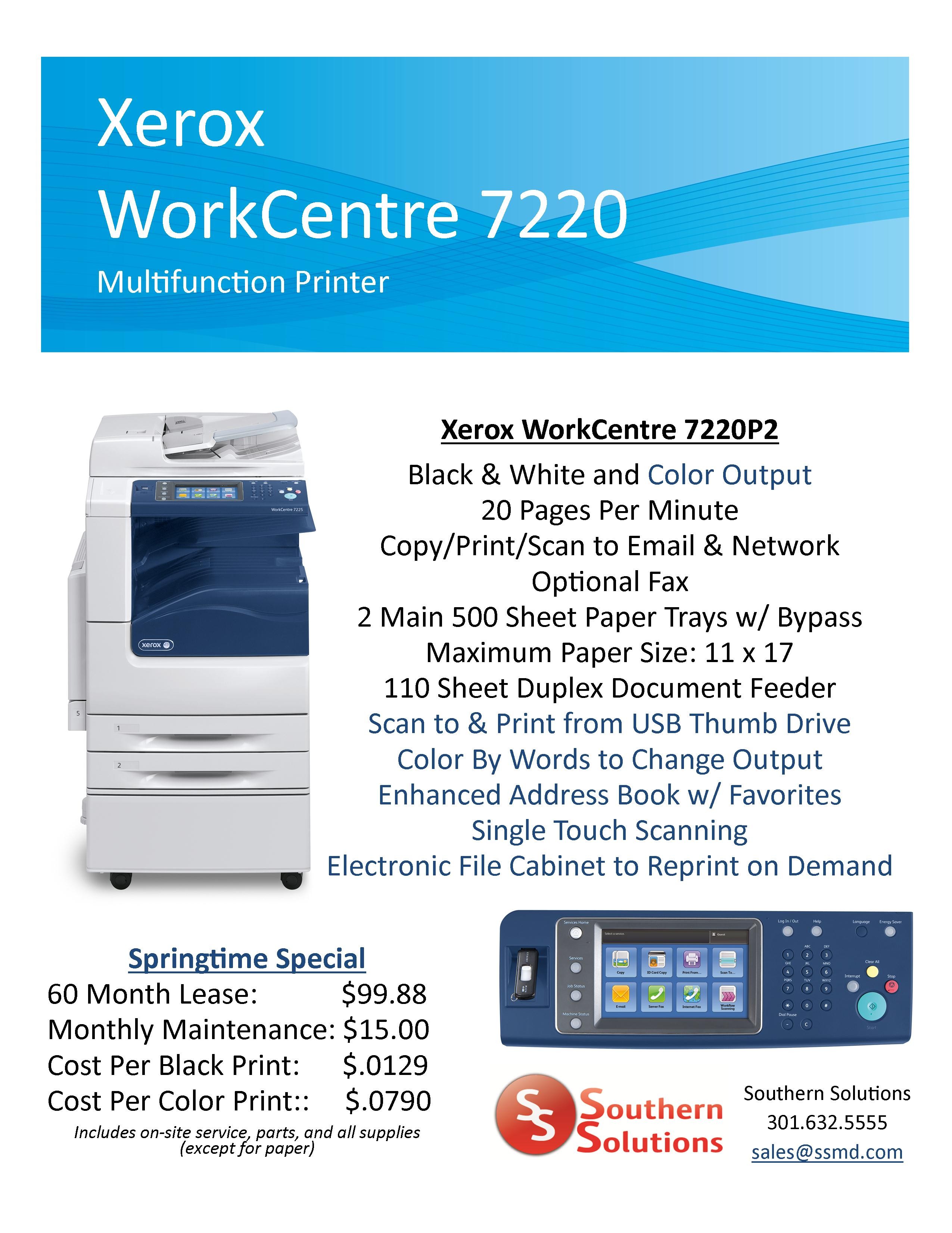 WorkCentre 7220 Springtime Special Website 5.14.13