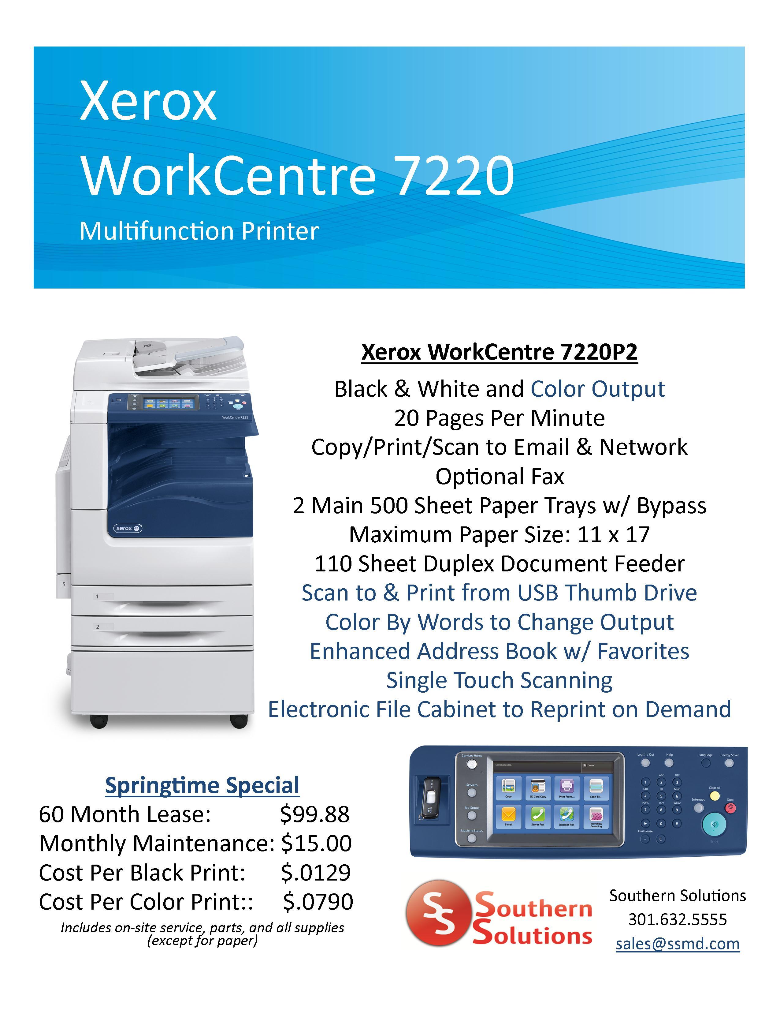 WorkCentre 7220 Springtime Special Website 5.14.13