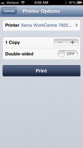 Printers Screen Shot