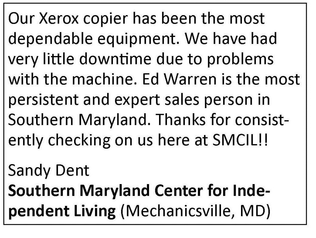 So MD Ctr for Indy Living Quote
