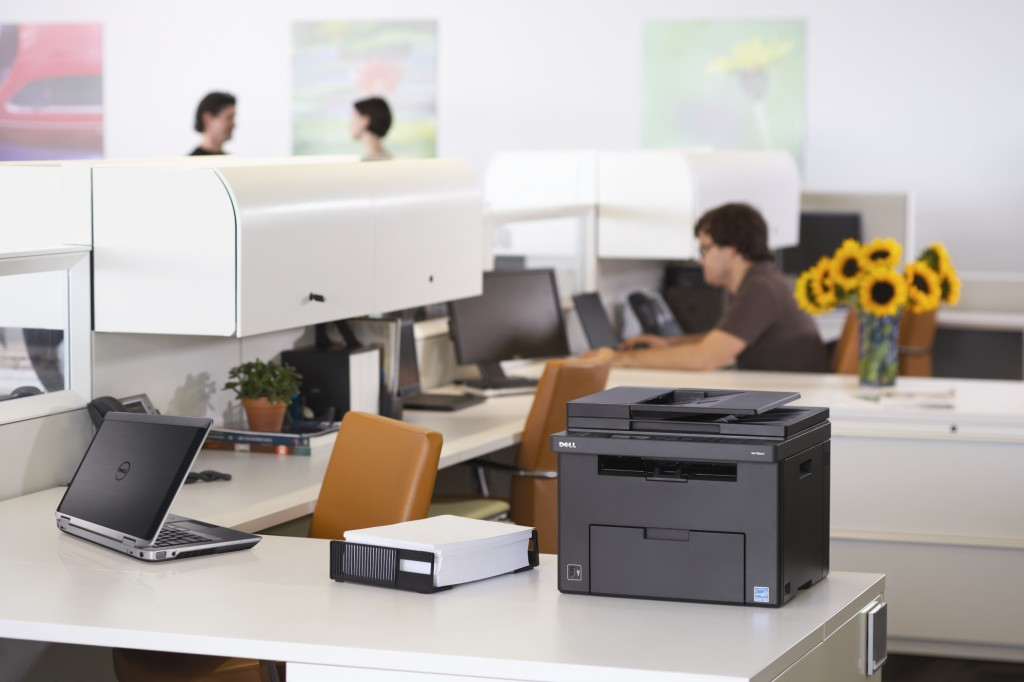 printer in office setting