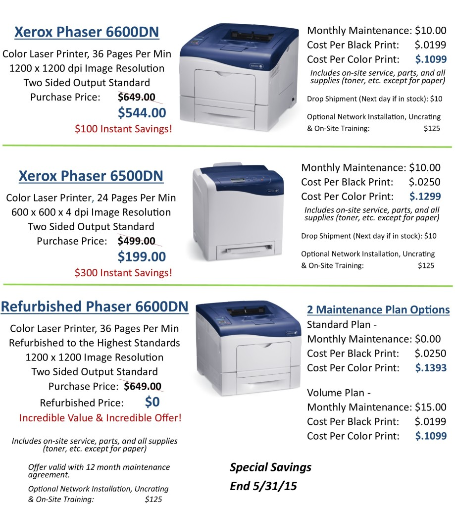 Spring Into Savings Printers 4.4.15 website