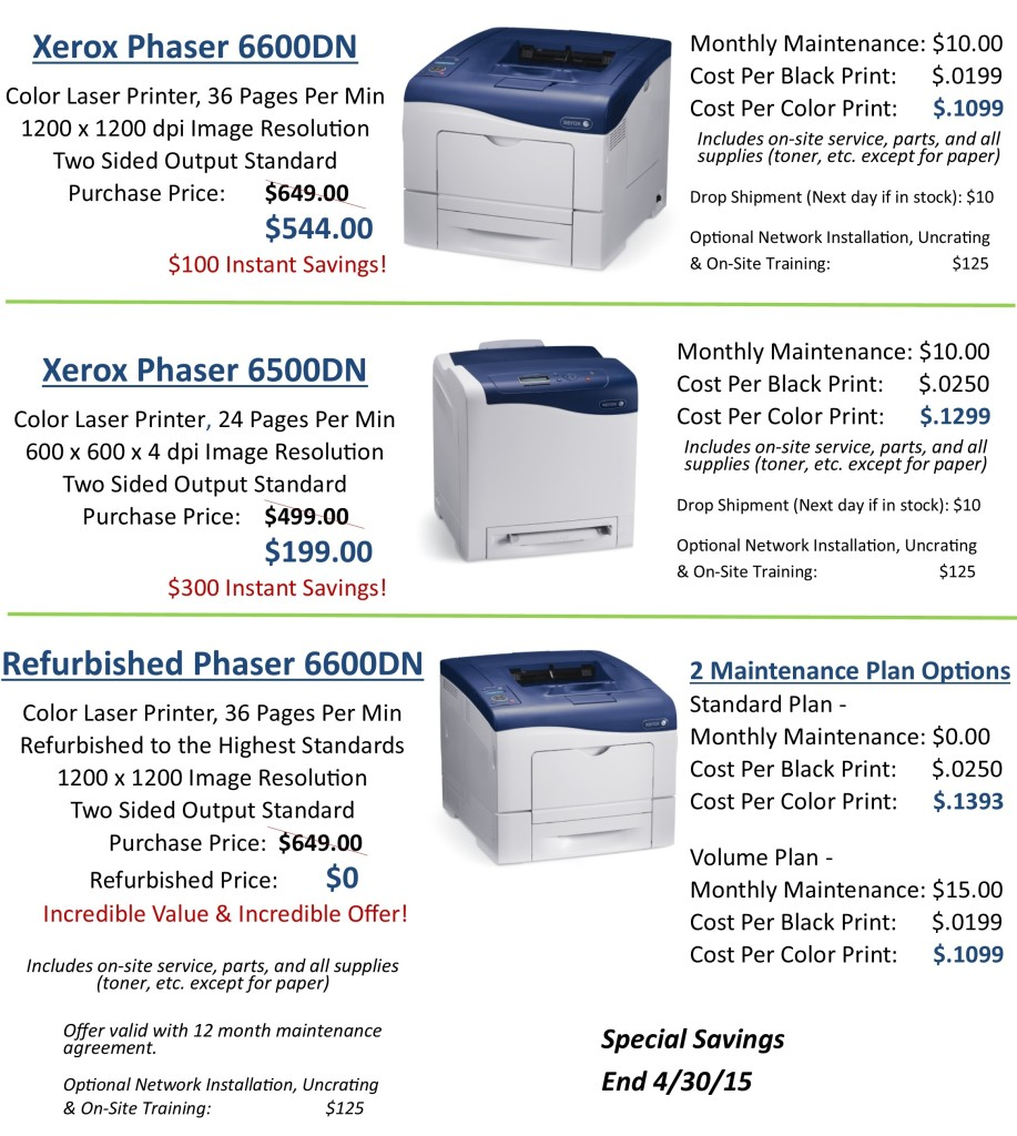Spring Into Savings Printers website