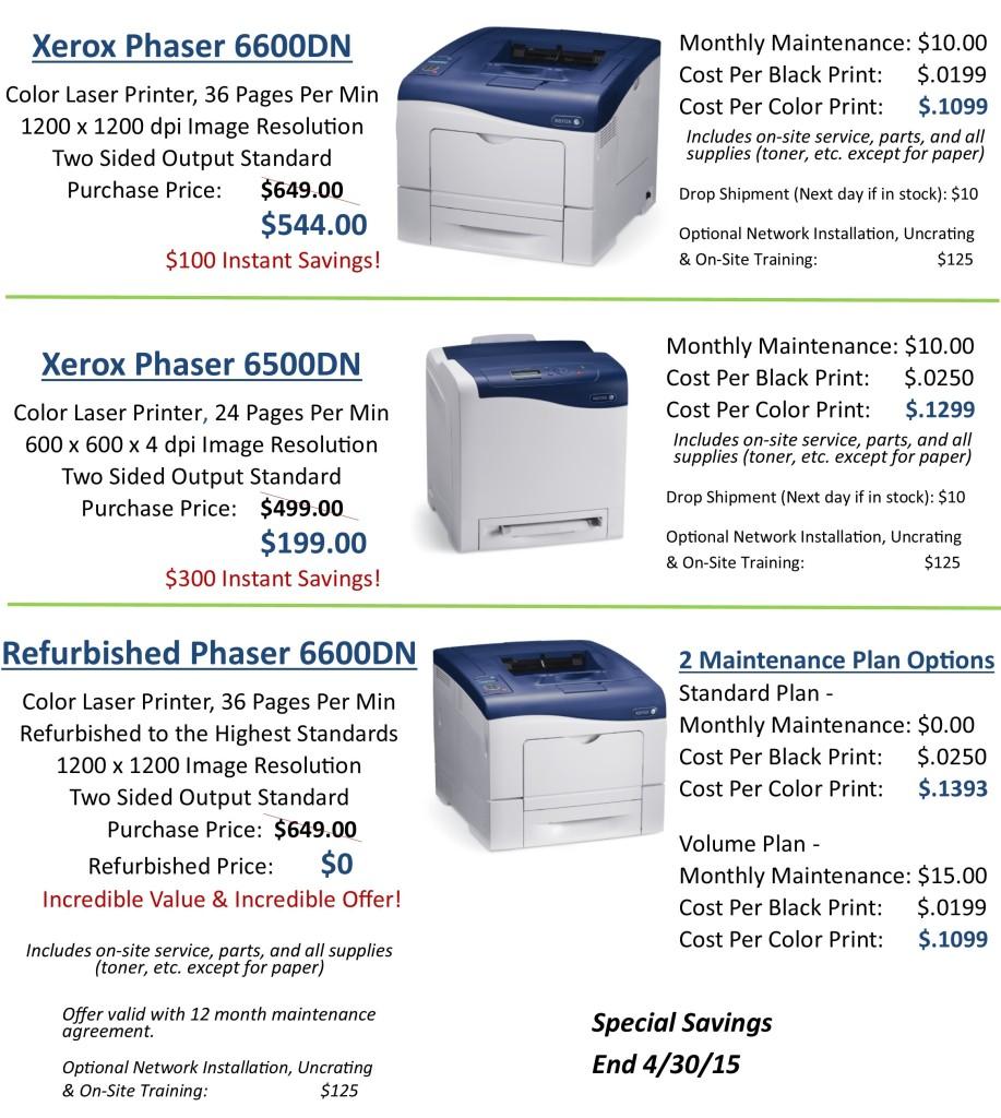 Spring Into Savings Printers website