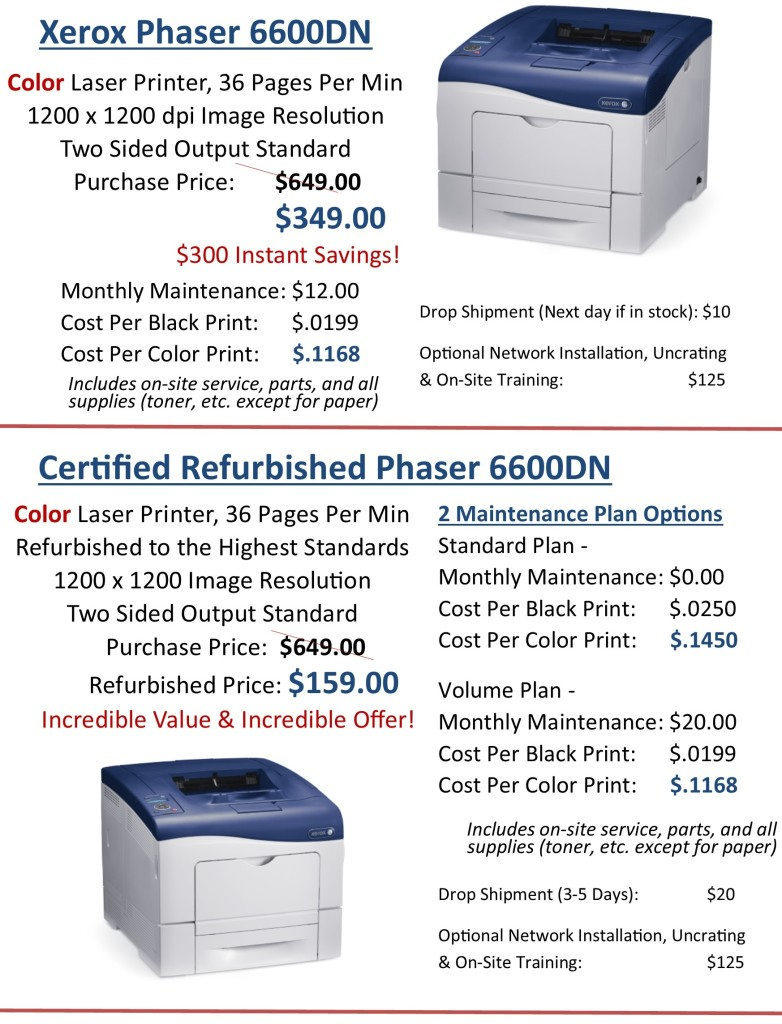 Winter Savings Color Printers 1.7