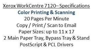 WC 7120 Fax Remanufactured July 2016