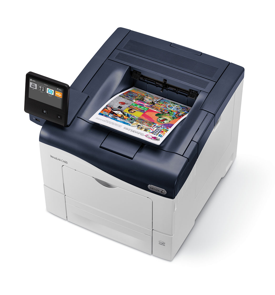 Versa link C400 with app and printed paper