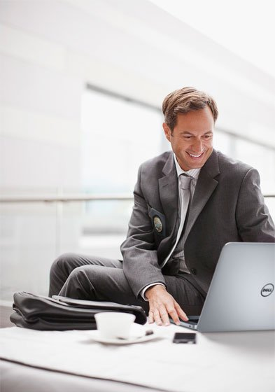 person with a laptop