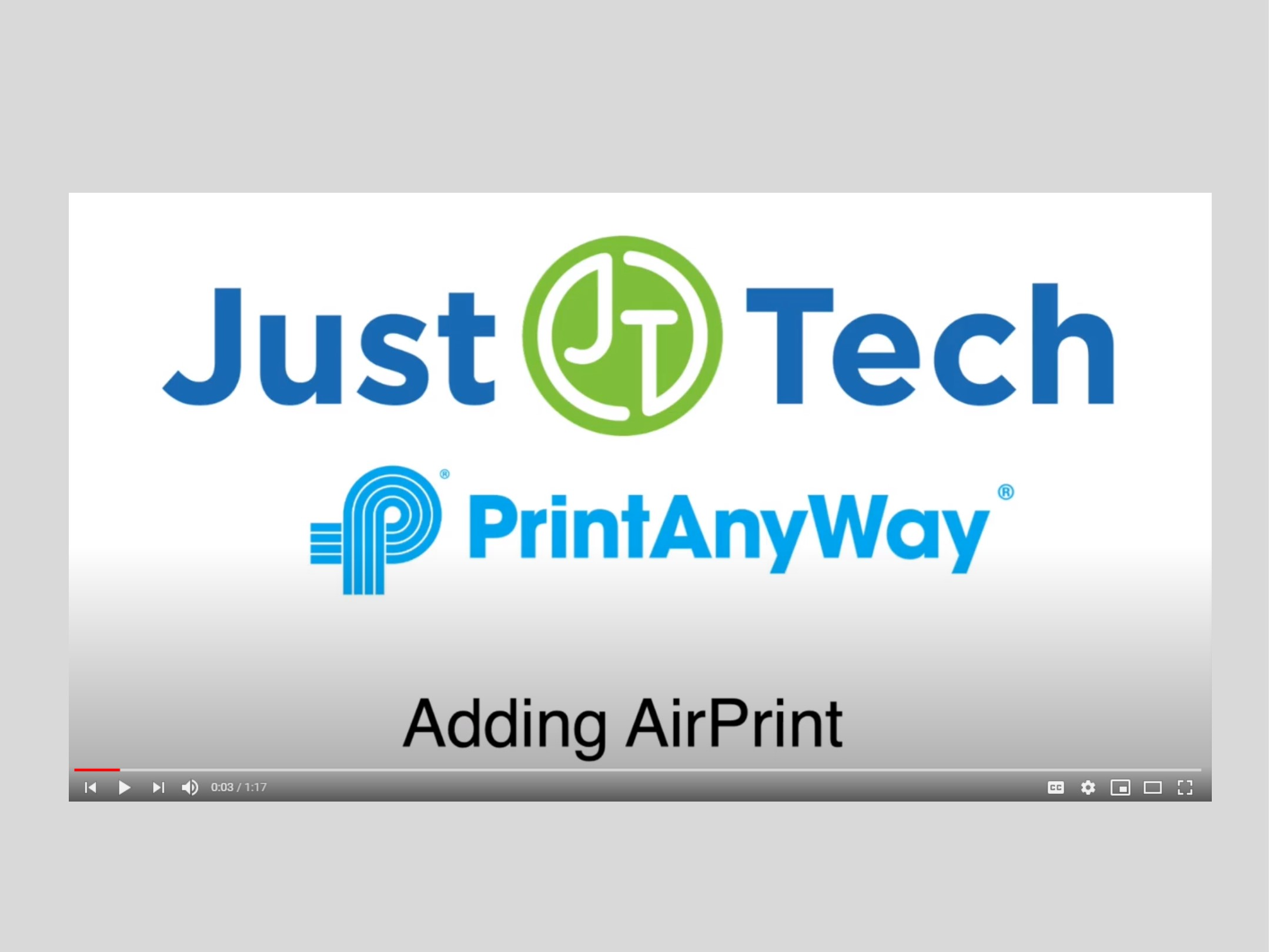 Just Tech - Managed Print Services, IT & Network Solutions